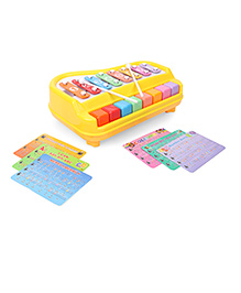 Smiles Creation Xylophone Cum Piano With Music Cards - Multi Color