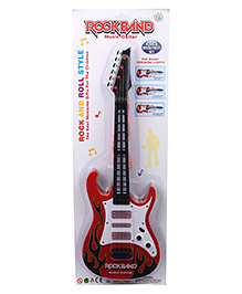 Smiles Creation Guitar With Light & Songs - Red