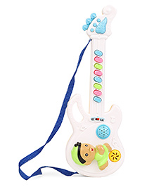 Smiles Creation Electronic 8 Sound Musical Guitar Toy - White & Yellow