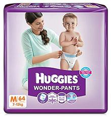 Huggies Wonder Pants Medium - 64 Pieces