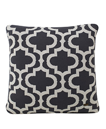 Pluchi  Traditional Knitted Cushion - Dark Grey