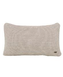 Pluchi Knitted Dual Tone Solid Cushion - Stone Grey
