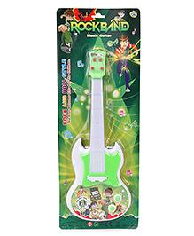 Smiles Creation Ben10 Rock Band Music Guitar - Green & White