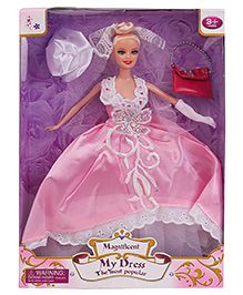 Smiles Creation Princess Doll With Bag And Hat - Pink