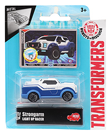 Transformers RID Strongarm Light Up Racer Car - Blue White