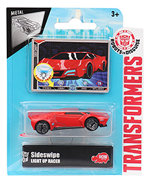 Transformers RID Sideswipe Light Up Racer Car - Red