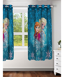 Athom Trendz Disney Frozen Window Curtain - Blue