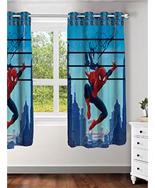 Athom Trendz Marvel Spider Man Window Curtain - Red & Blue