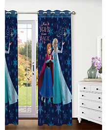 Athom Trendz Disney Frozen Door Curtain - Dark Blue