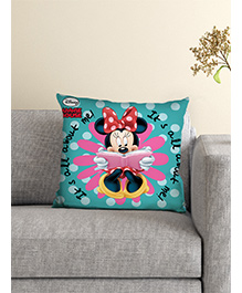 Athom Trendz Disney Minnie Mouse Cushion With Cover - Blue Pink