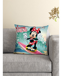 Athom Trendz Disney Minnie Mouse Cushion With Cover - Aqua Multicolor