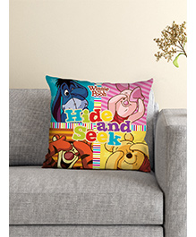 Athom Trendz Disney Winnie The Pooh Cushion With Cover - Yellow Multicolor