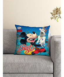 Athom Trendz Disney Mickey Mouse Cushion With Cover - Blue - 1625517