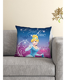Athom Trendz Princess Cinderella Cushion With Cover - Blue
