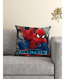 Athom Trendz Marvel Spider Man Cushion With Cover - Black
