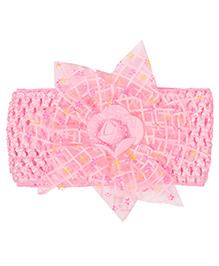 Miss Diva Floral Rose Broad Soft Headband - Pink