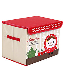 Baby Storage Box Girl Patch - Red