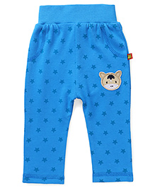 Wow Clothes Elasticated Lounge Pant Star Print & Hippo Patch - Blue
