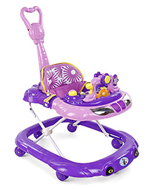 Musical Baby Walker With Push Handle - Purple