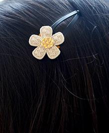 Pretty Ponytails Ethnic Flower Hair Clip - Beige