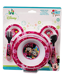 The First Years Minnie Mouse Feeding Set Pack Of 4 - Pink