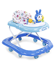 Musical Baby Walker With Rattle Play Tray - Blue