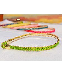 Little Tresses Zigzag Design Hairband - Green