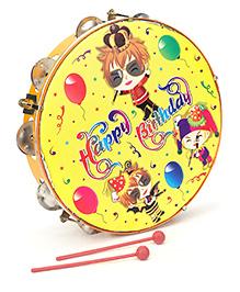 Mansaji Crazy Dafli Set Happy Birthday Print - Orange Yellow