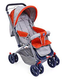 Mee Mee Baby Stroller Cum Pram MM-20D - Grey Orange