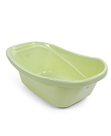 Baby Bath Tub Cartoon Print - Light Green