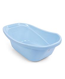 Baby Bath Tub Cartoon Print - Blue