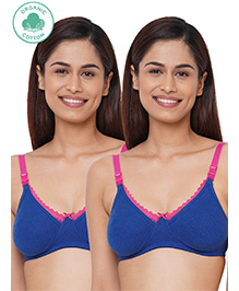 Inner Sense Antimicrobial Maternity Nursing Bra Pack Of 2 - Royal Blue
