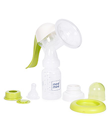 Mee Mee Easy Expression Manual Breast Pump - Green & White