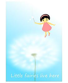 Kadambaby Little Fairies Live Here Wall Poster - Blue