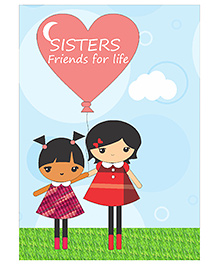 Kadambaby Sisters Friends For Life Wall Poster - Blue
