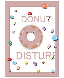 Kadambaby Donut Disturb Wall Paper - White Light Brown