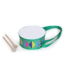 Alpaks Toy Drum With Wooden Sticks - Green