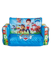 Disney 2 In 1 Inflatable With Lounger Mini Sofa Paw Petrol Print - Blue