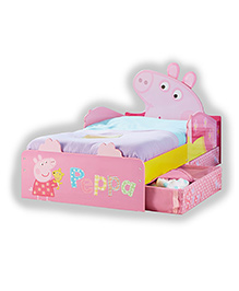Peppa Pig Toddler Bed With Underbed Storage - Pink