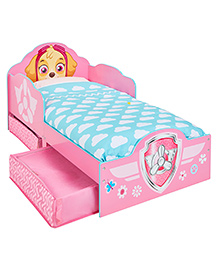 Paw Patrol Toddler Bed With Underbed Storage - Pink