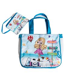 Li'll Pumpkins Travel 2Pc Set Bag - Aqua