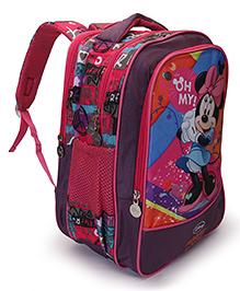 Disney Minnie Mouse School Bag Dark Pink - Height 16 Inch