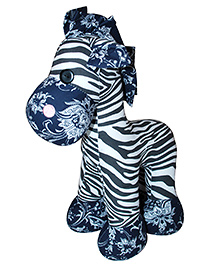 Abracadabra Zebra Soft Toy Black Blue - 21 Cm