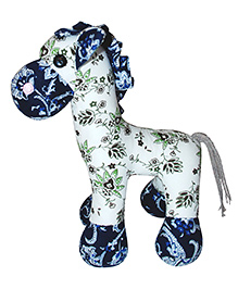 Abracadabra Giraffe Soft Toy White Blue - 21 Cm