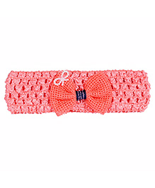 Miss Diva Adorable Bow Soft Headband - Coral