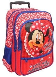 Disney Red Minnie Bag With Stroller Handle Size 18 Inches