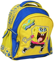 Spongebob - Yellow & Sky Blue School Bag