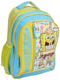 Sponge Bob - Yellow And Sky Blue Bag 16 Inches