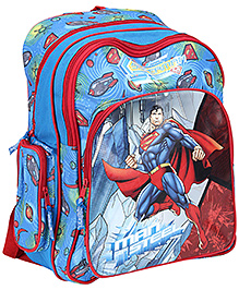 Superman School Bag Blue - 16 Inches