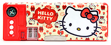 Hello Kitty X2 Plastic Pencil Case - Red